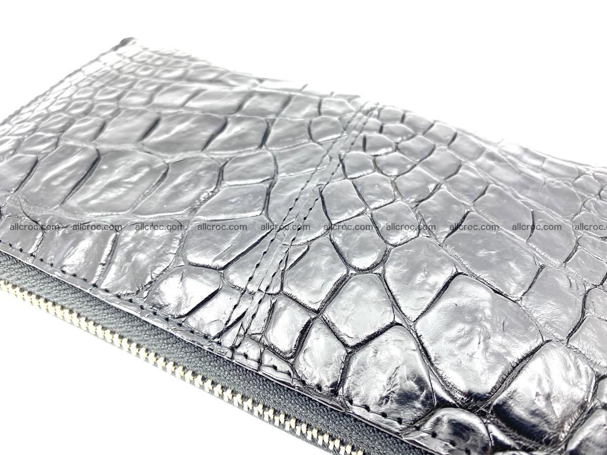 Crocodile skin wallet with zip 980 Foto 10