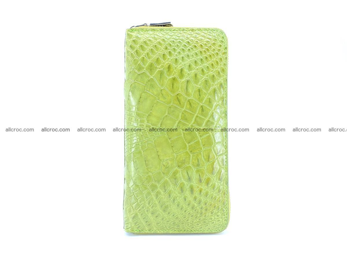 Crocodile skin wallet with zip 984 Foto 4