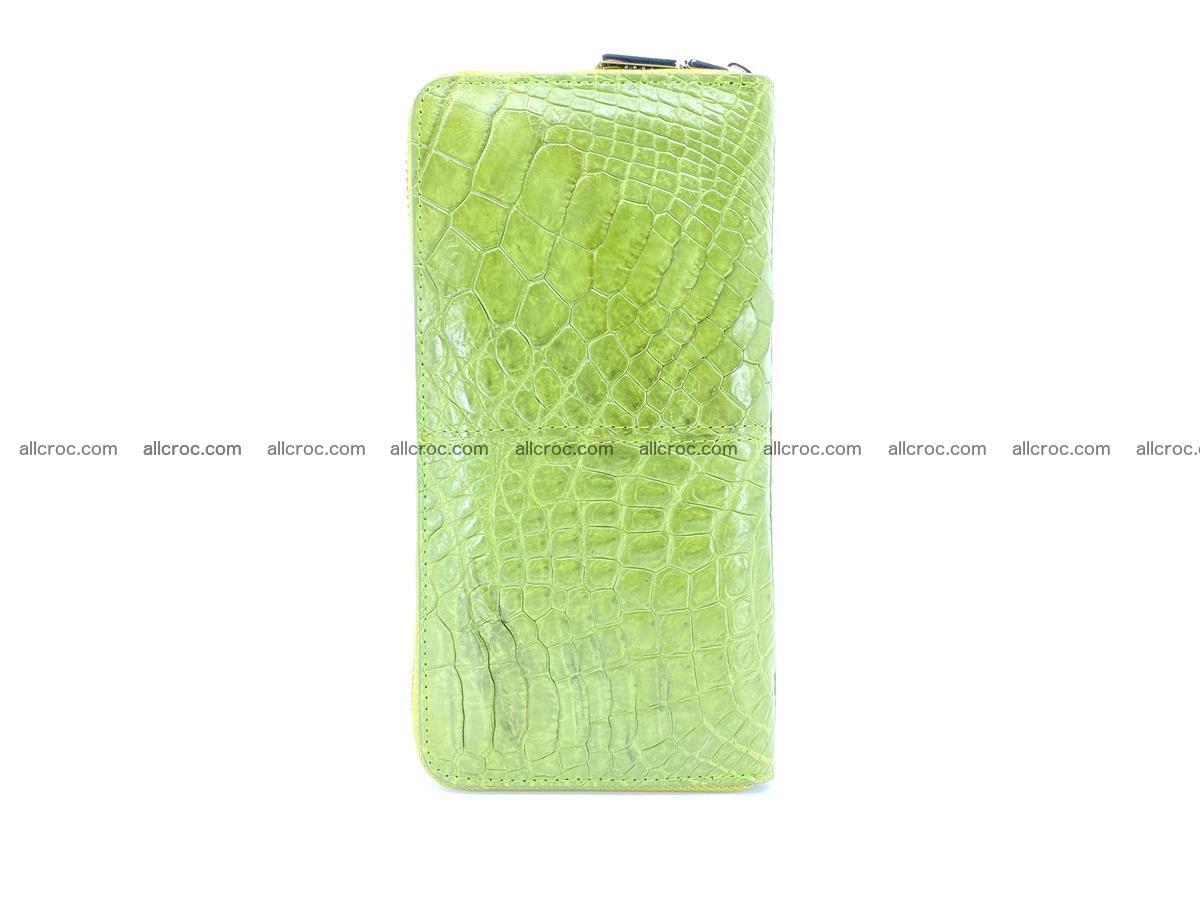 Crocodile skin wallet with zip 984 Foto 5