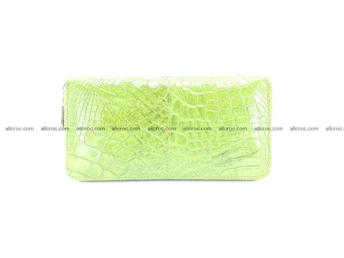 Crocodile skin wallet with zip 984 Foto 1