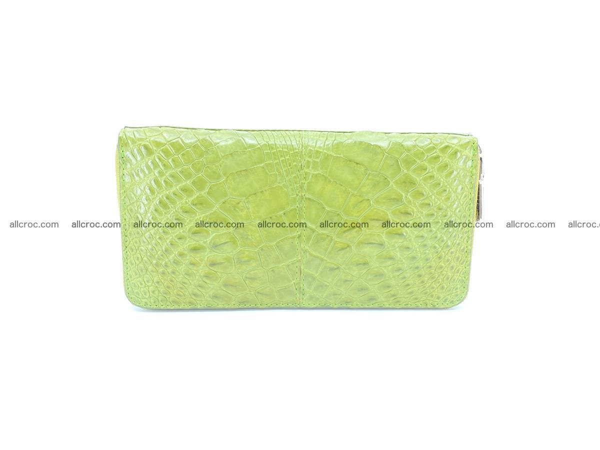 Crocodile skin wallet with zip 984 Foto 0
