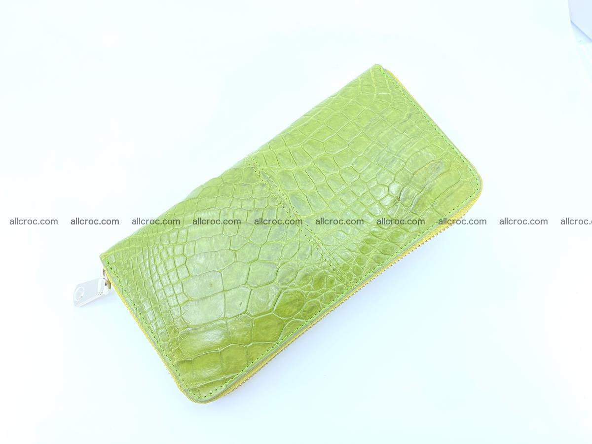Crocodile skin wallet with zip 984 Foto 6