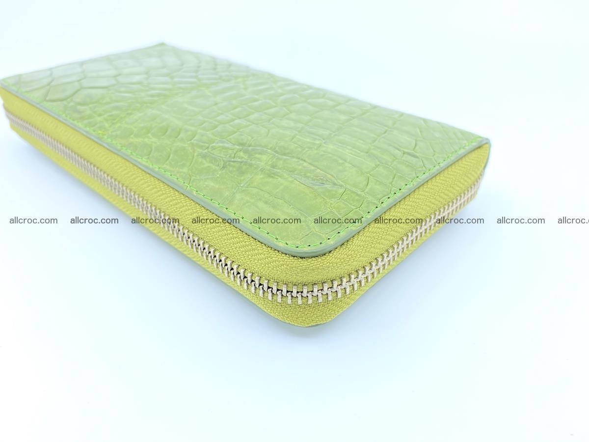 Crocodile skin wallet with zip 984 Foto 8