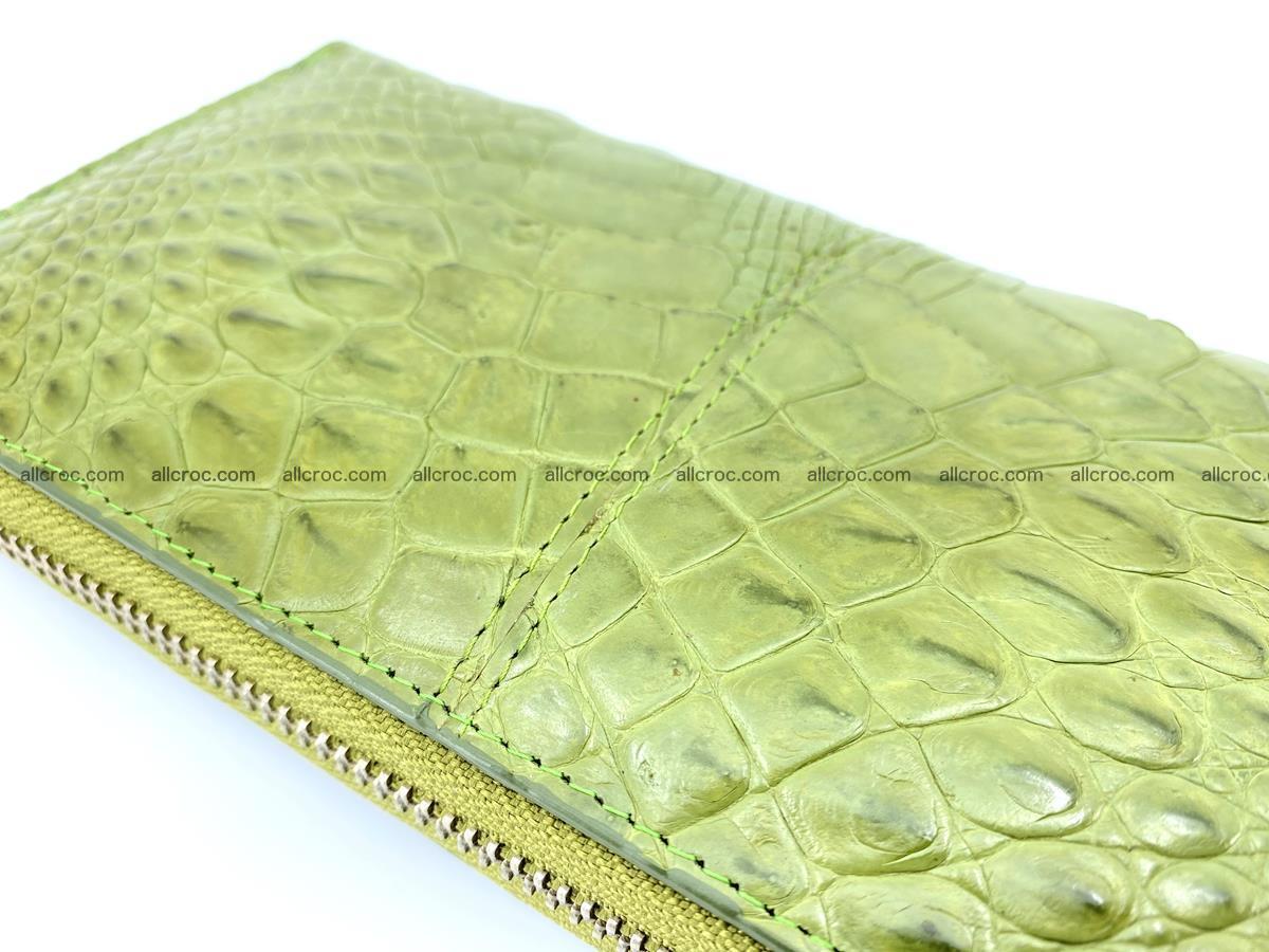 Crocodile skin wallet with zip 984 Foto 9