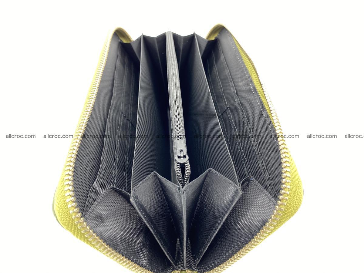 Crocodile skin wallet with zip 984 Foto 14