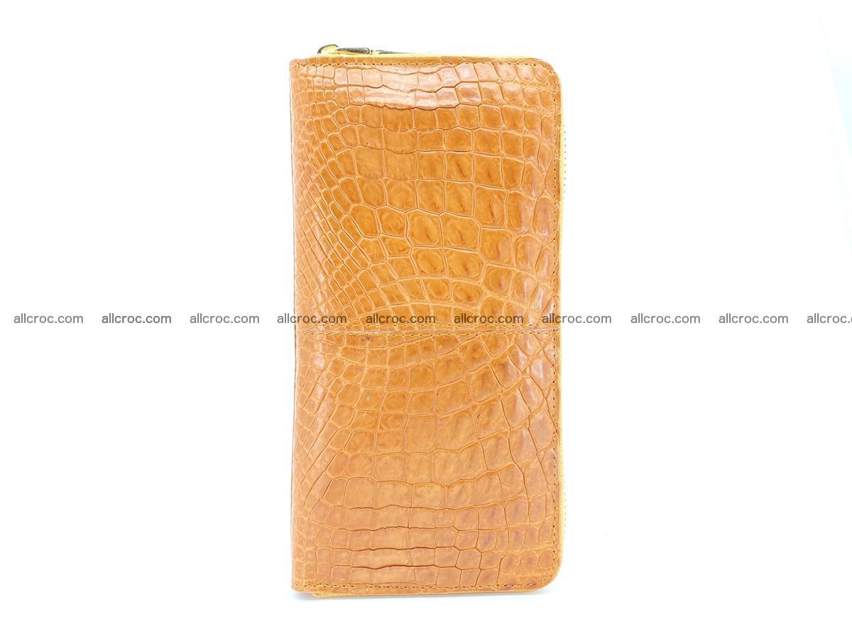 Crocodile skin wallet with zip 985 Foto 5