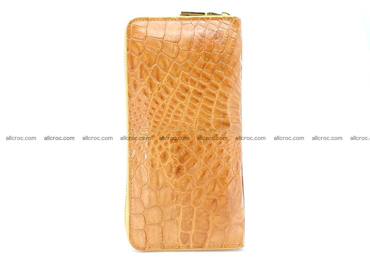 Crocodile skin wallet with zip 985 Foto 4