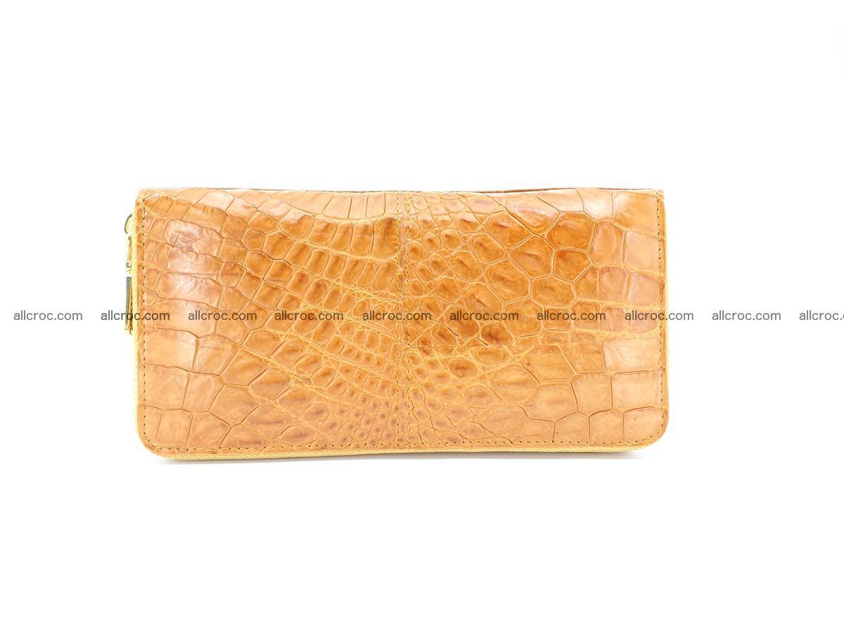 Crocodile skin wallet with zip 985 Foto 1