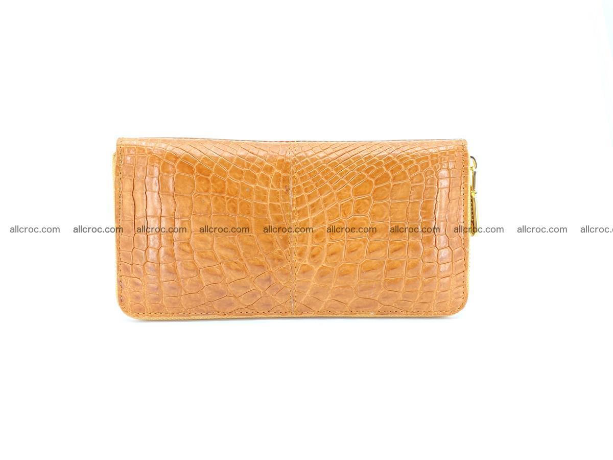 Crocodile skin wallet with zip 985 Foto 0