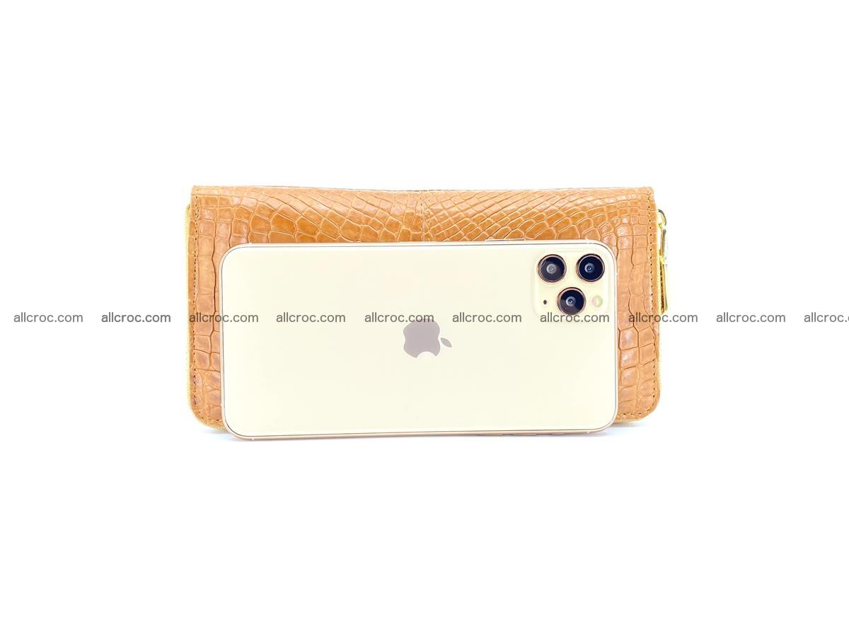 Crocodile skin wallet with zip 985 Foto 2