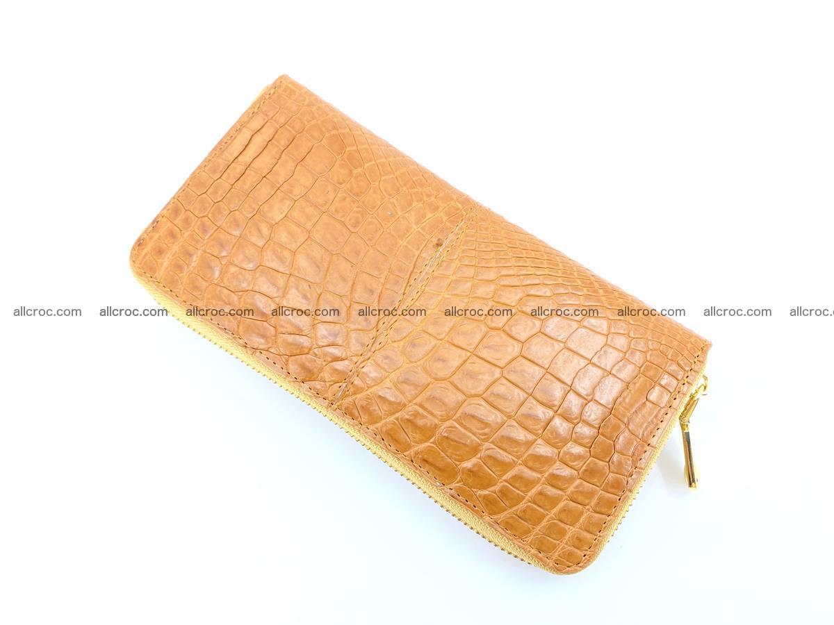 Crocodile skin wallet with zip 985 Foto 7