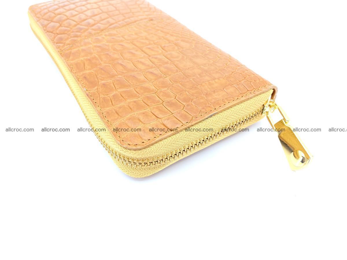 Crocodile skin wallet with zip 985 Foto 10