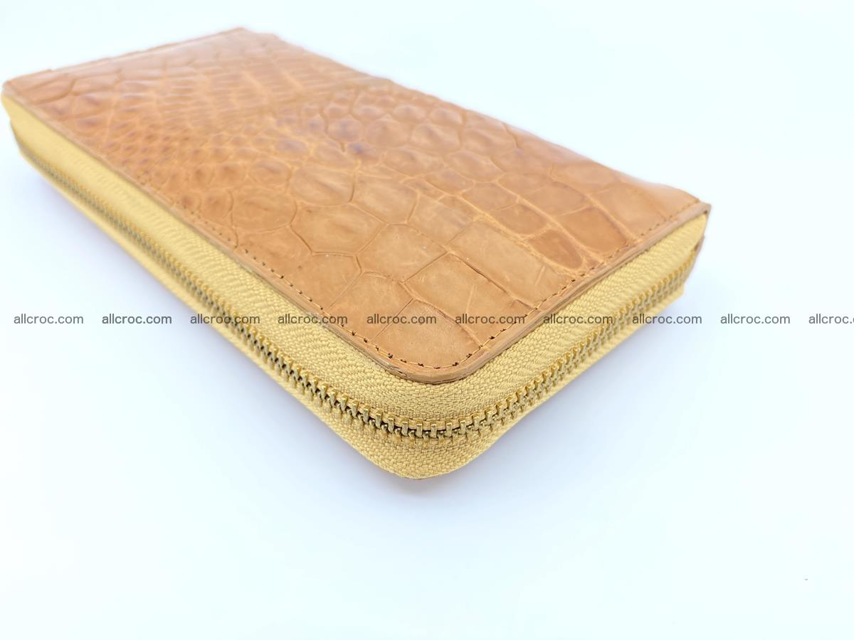 Crocodile skin wallet with zip 985 Foto 8