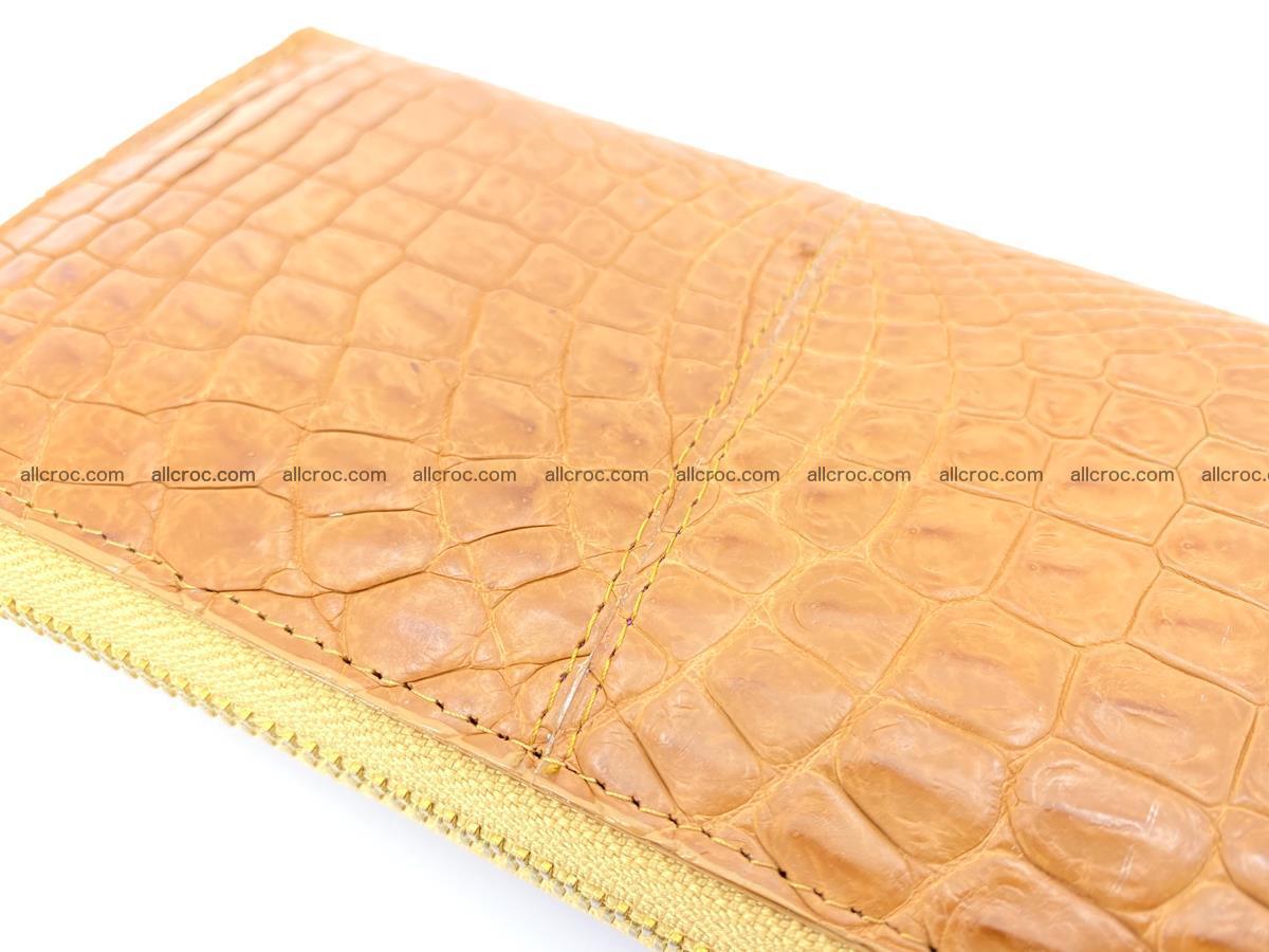 Crocodile skin wallet with zip 985 Foto 9