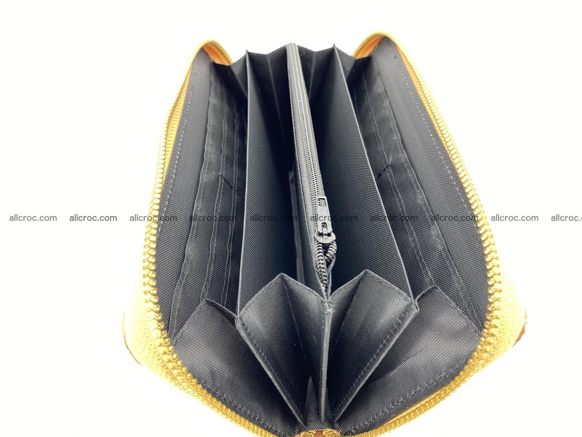 Crocodile skin wallet with zip 985 Foto 14