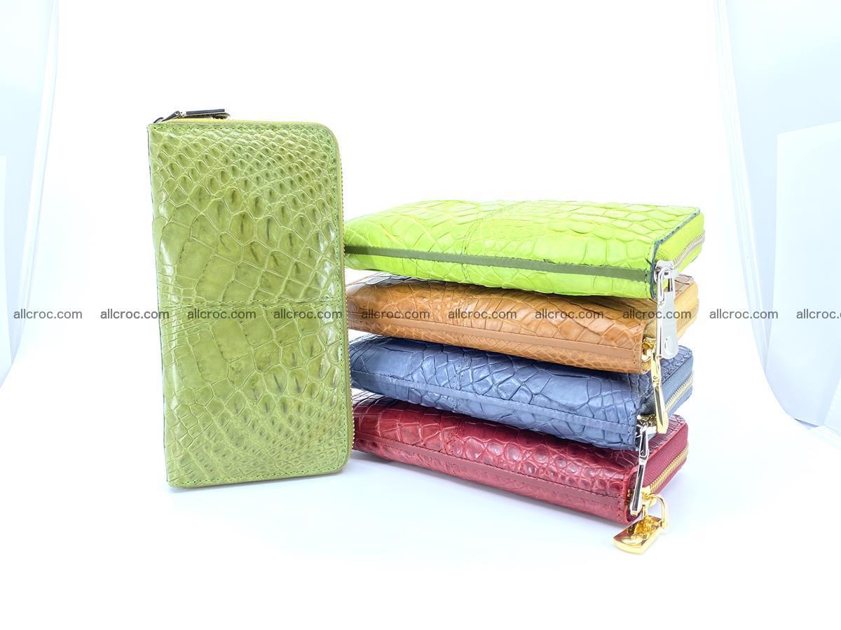 Crocodile skin wallet with zip 984 Foto 3
