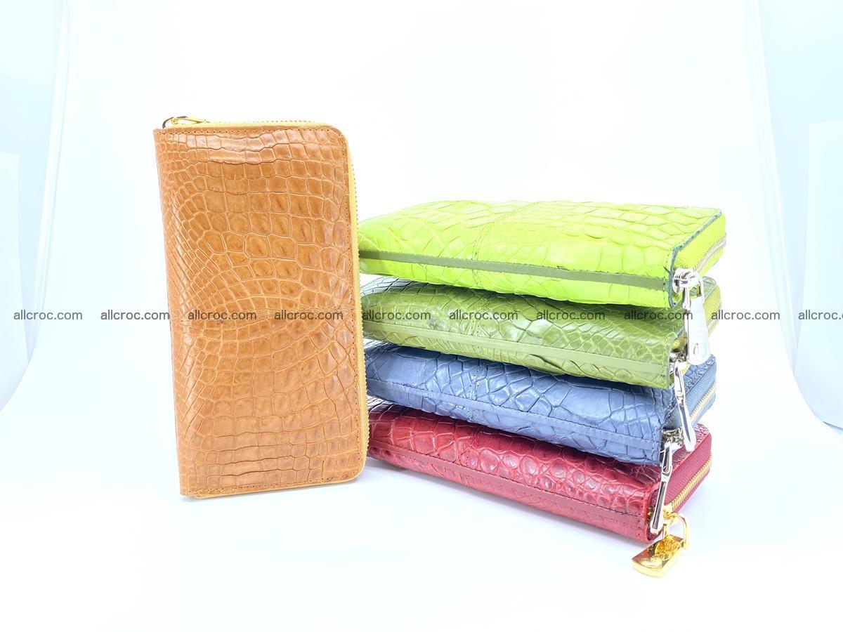 Crocodile skin wallet with zip 985 Foto 3