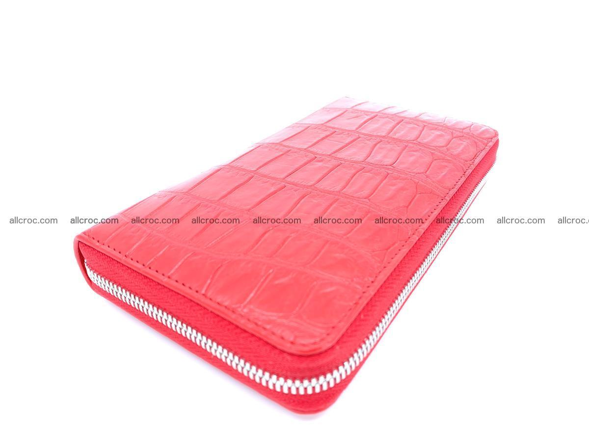 Crocodile skin zip wallet 530 Foto 0