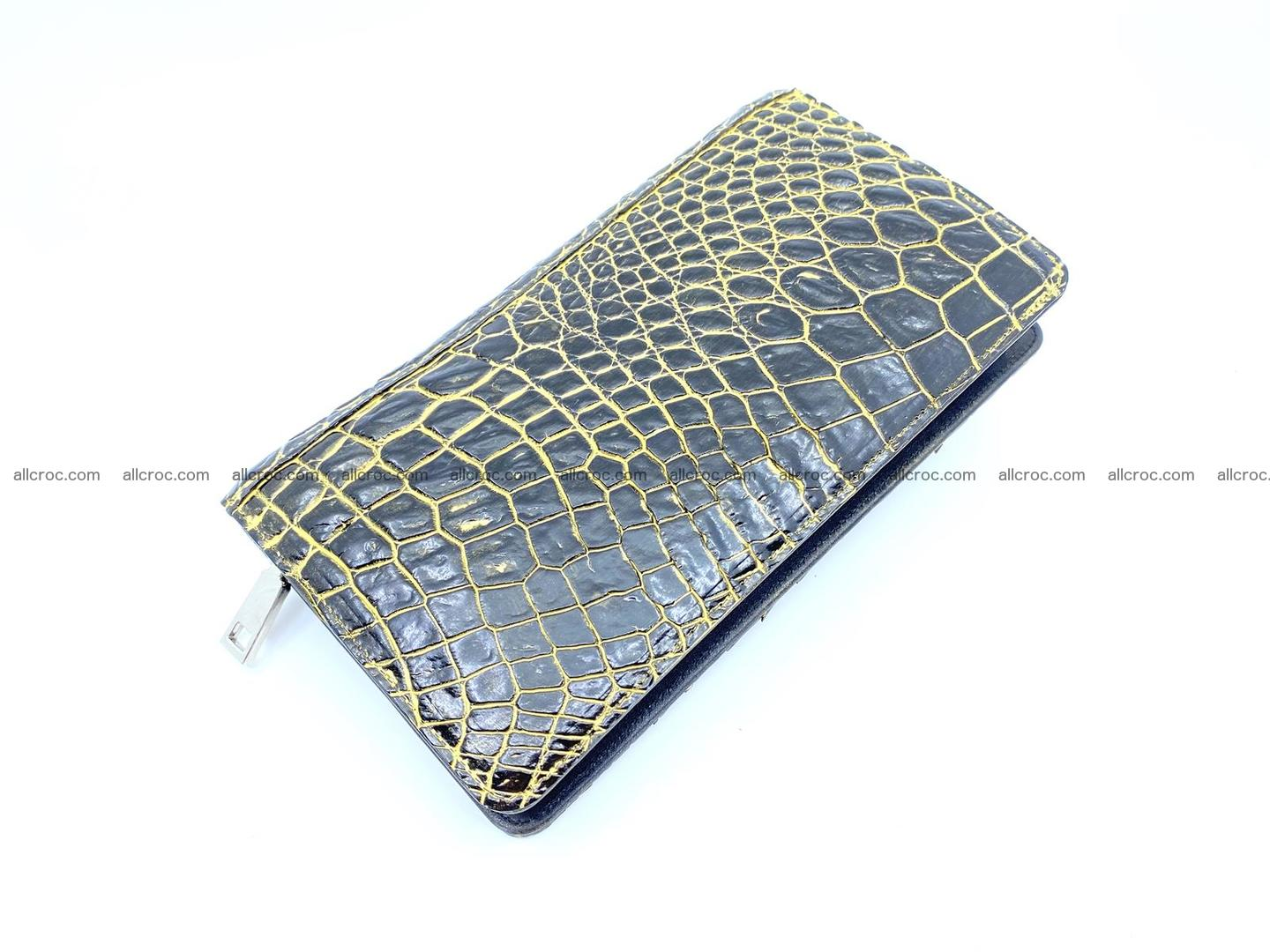 Crocodile skin zip wallet 1301 Foto 1