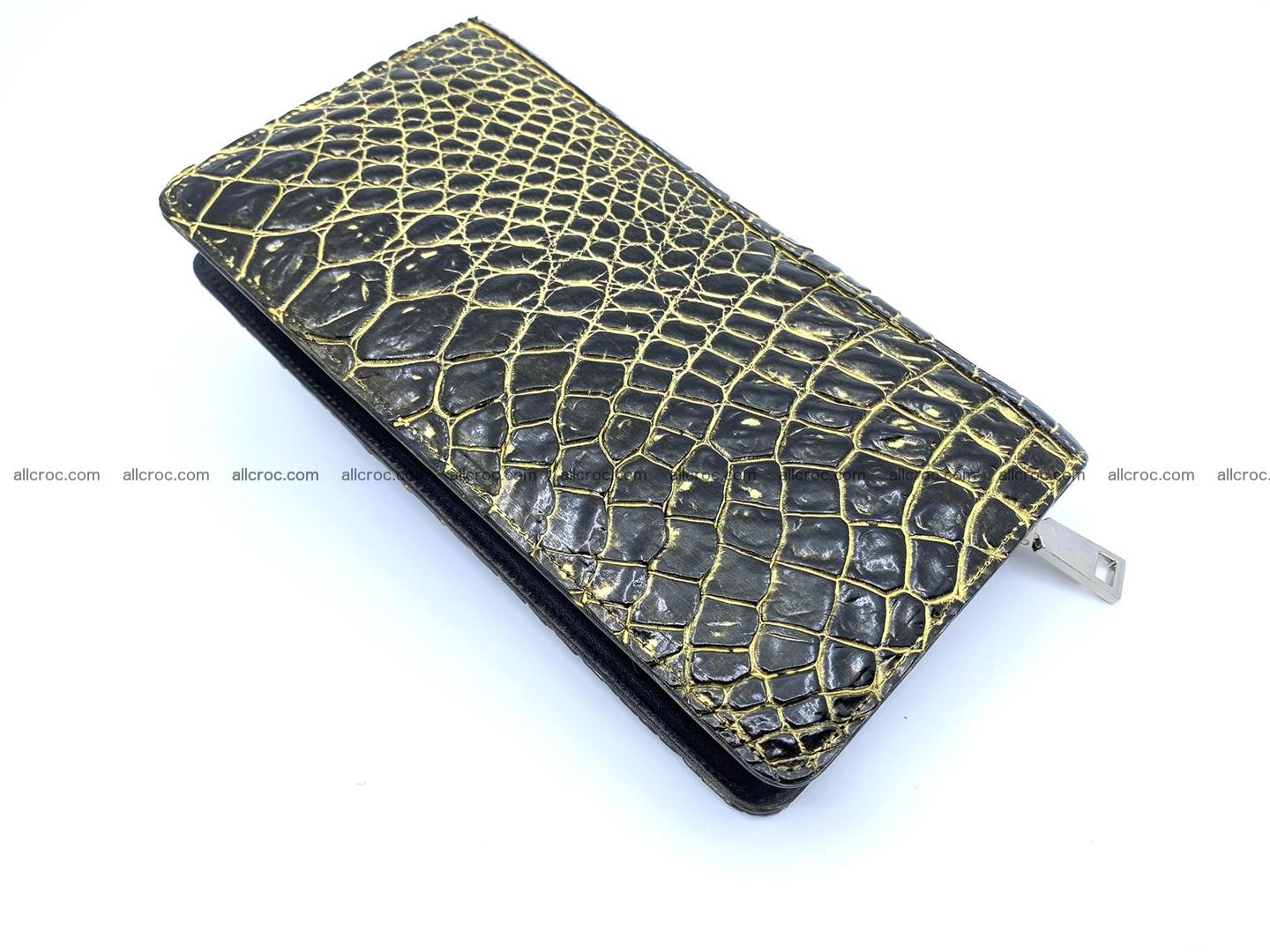 Crocodile skin zip wallet 1301 Foto 10