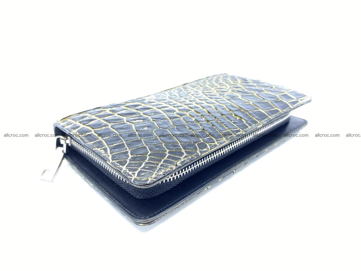 Crocodile skin zip wallet 1301 Foto 3