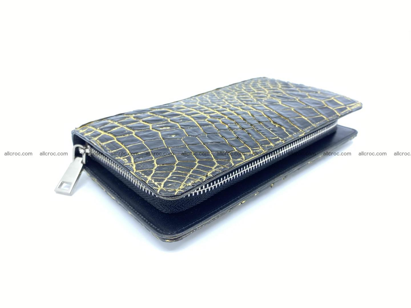 Crocodile skin zip wallet 1301 Foto 2