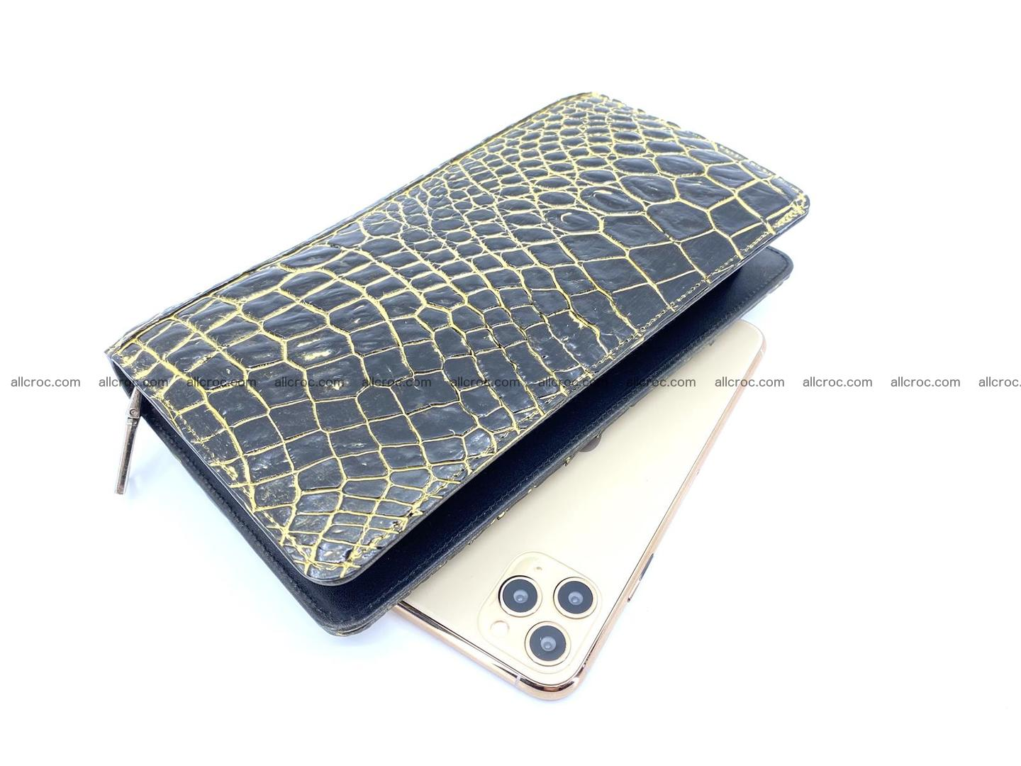 Crocodile skin zip wallet 1301 Foto 0