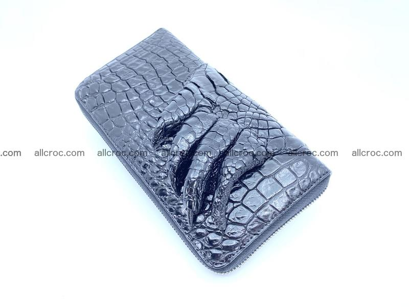 Crocodile skin zip wallet with paw 1112