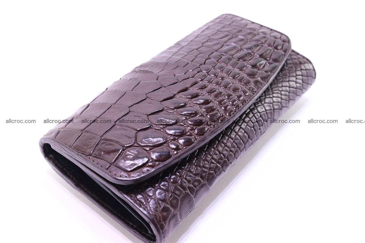 Crocodile trifold wallet for women 279 Foto 3