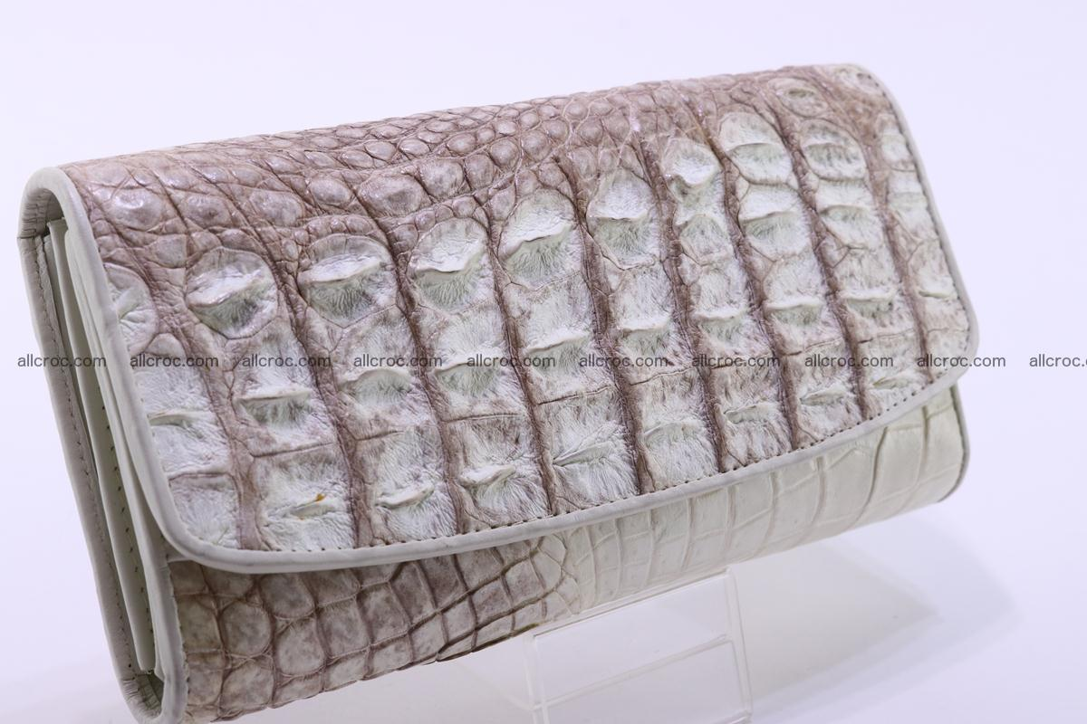 Crocodile wallet for women trifold 280 Foto 1
