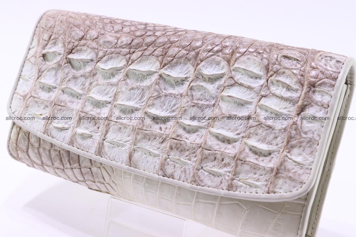 Crocodile wallet for women trifold 280 Foto 2
