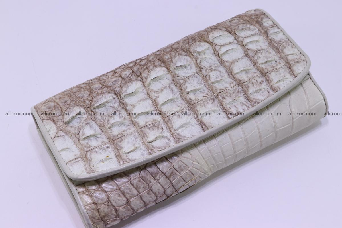 Crocodile wallet for women trifold 280 Foto 3