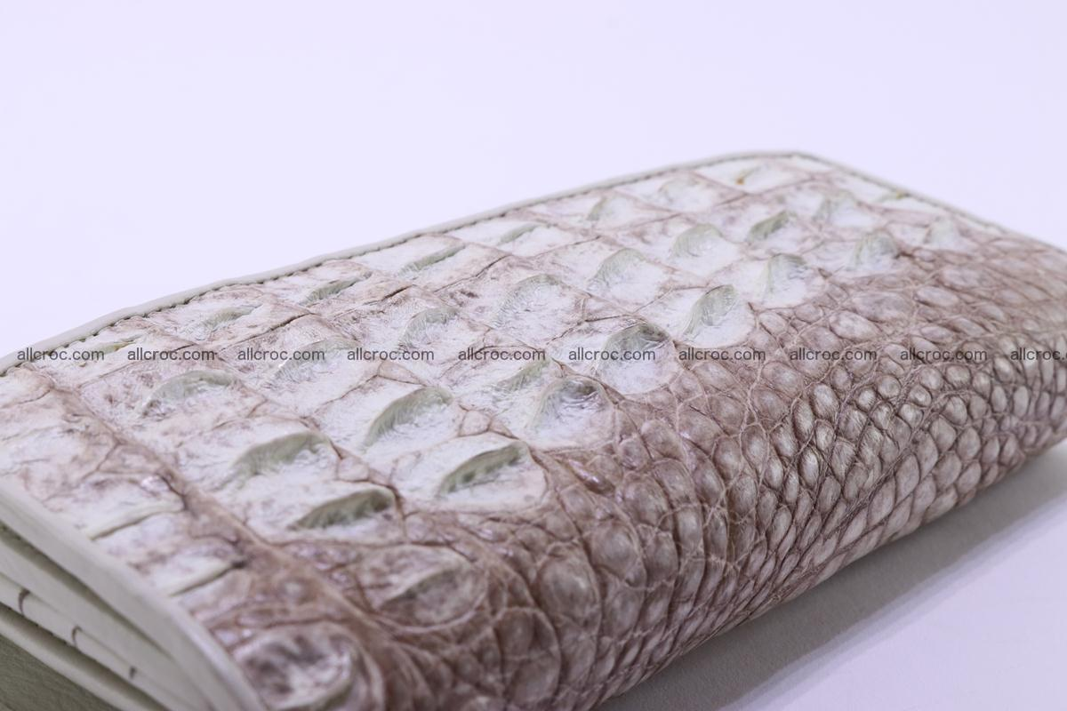 Crocodile wallet for women trifold 280 Foto 4