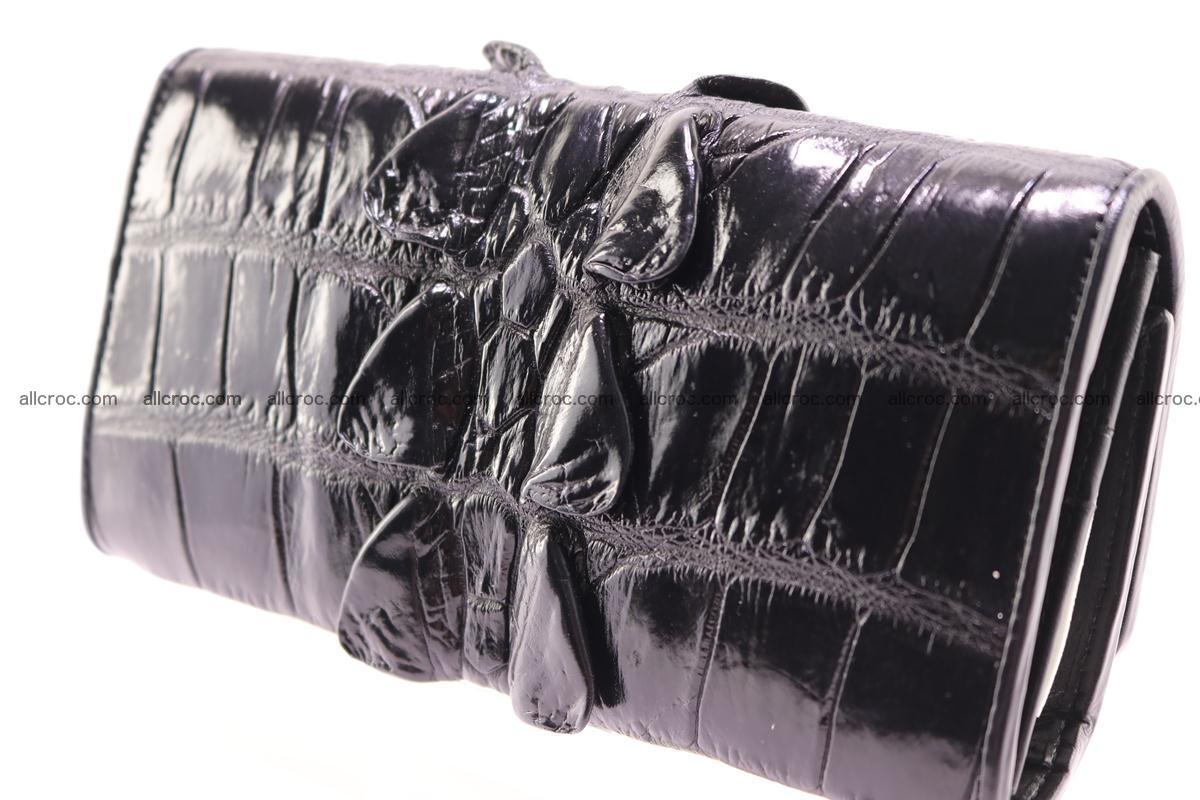 Crocodile wallet for women trifold 281 Foto 8