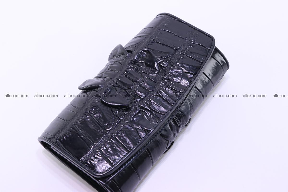 Crocodile wallet for women trifold 281 Foto 5