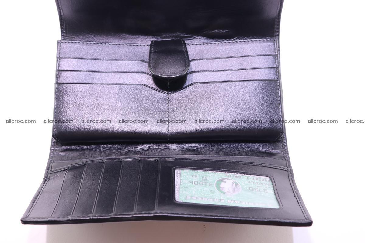 Crocodile wallet for women trifold 281 Foto 17