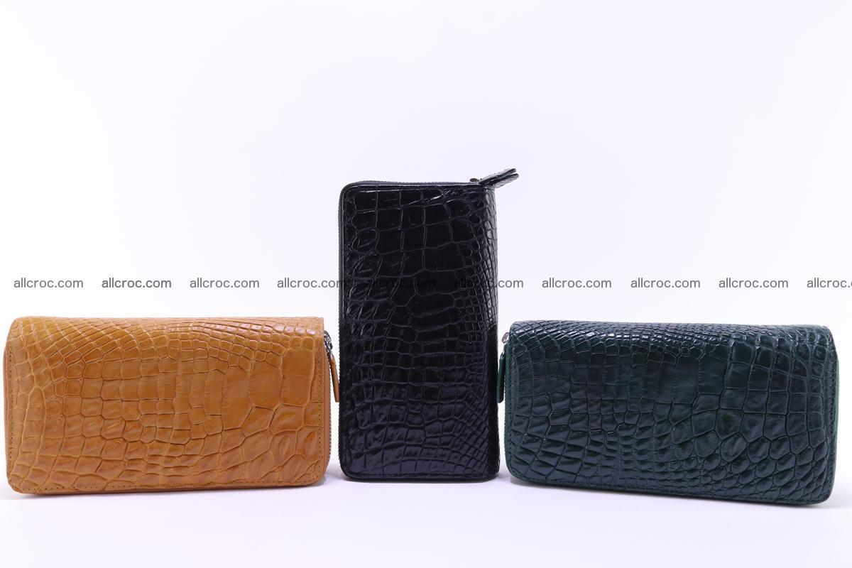 Crocodile wallet with 2 zips 313 Foto 18
