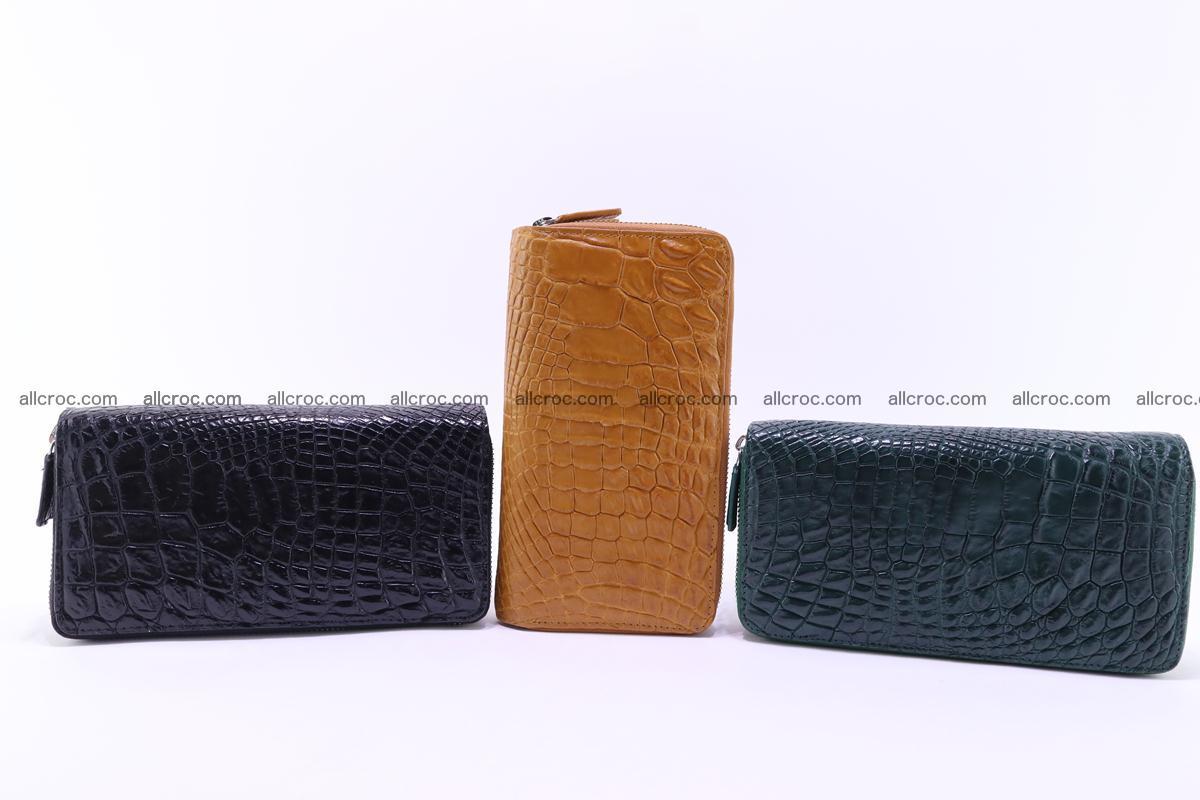 Crocodile wallet with 2 zips 313 Foto 19