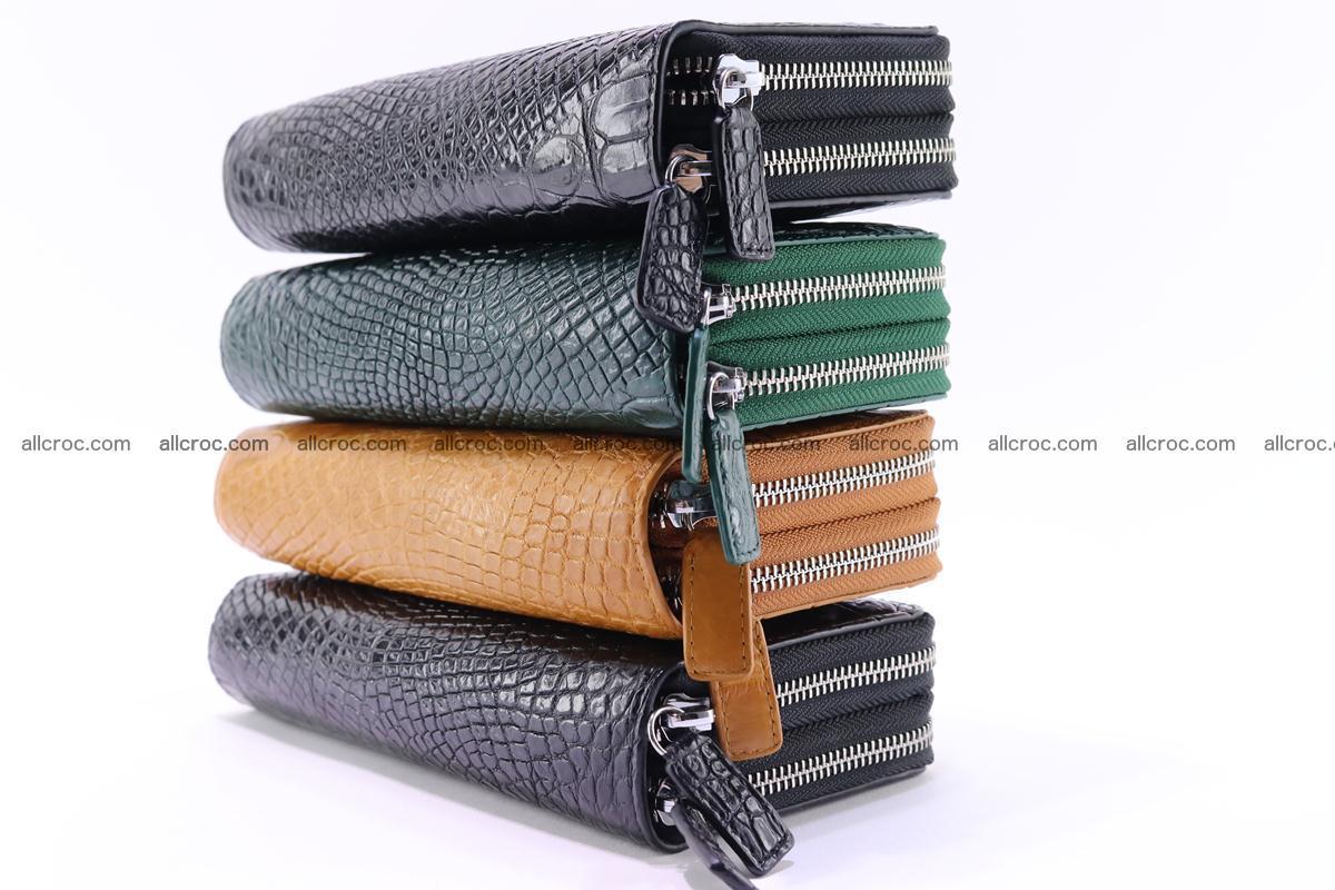 Crocodile wallet with 2 zips 313 Foto 17