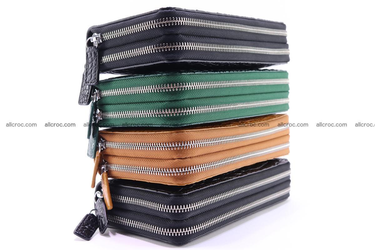 Crocodile wallet with 2 zips 313 Foto 16