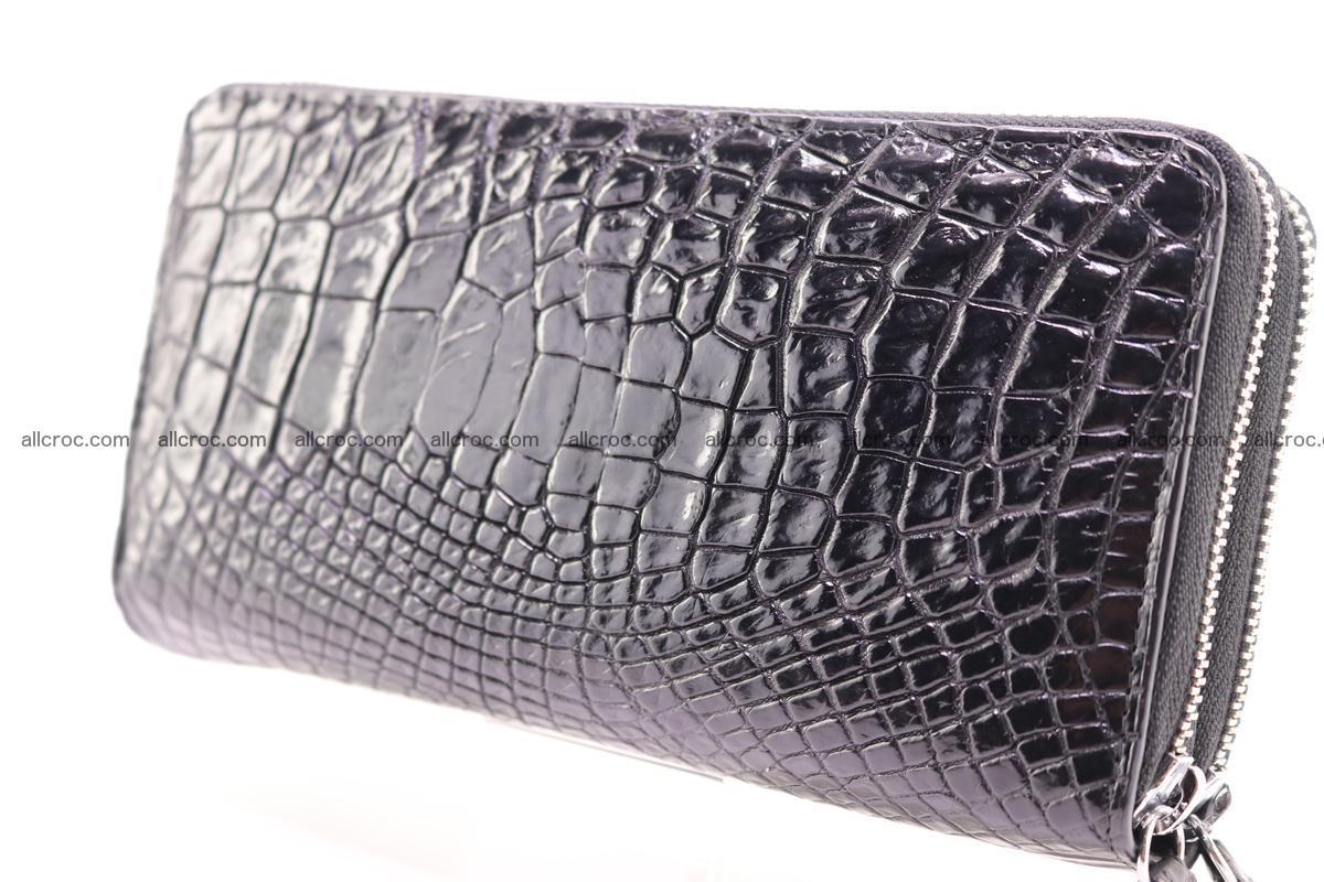 Crocodile wallet with 2 zips 313 Foto 8