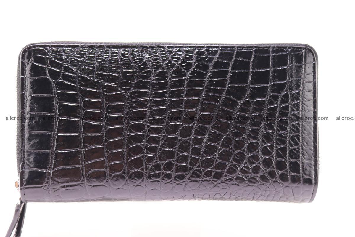 Crocodile wallet with 2 zips 313 Foto 4
