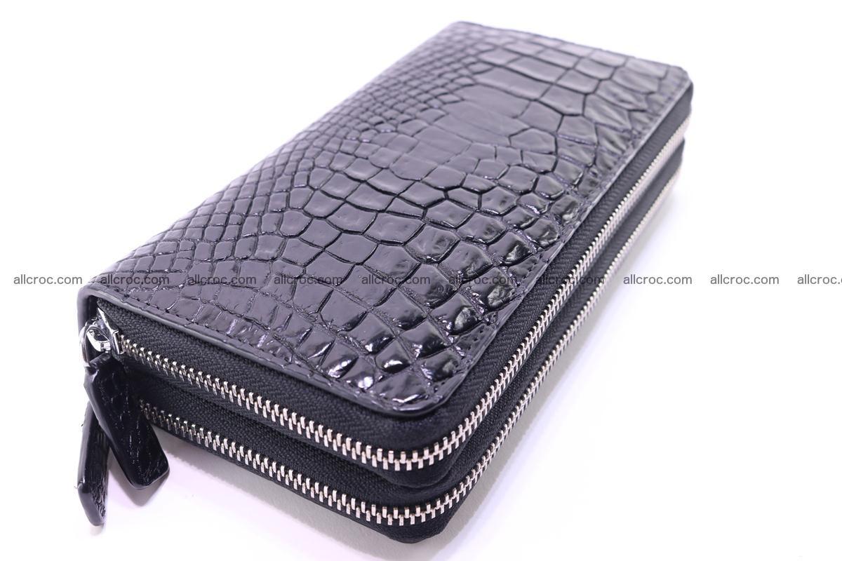 Crocodile wallet with 2 zips 313 Foto 5