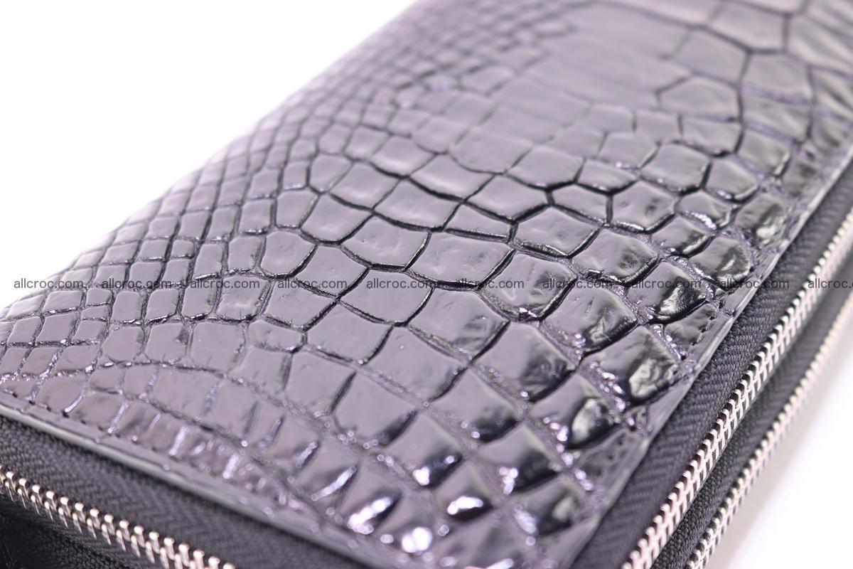 Crocodile wallet with 2 zips 313 Foto 3