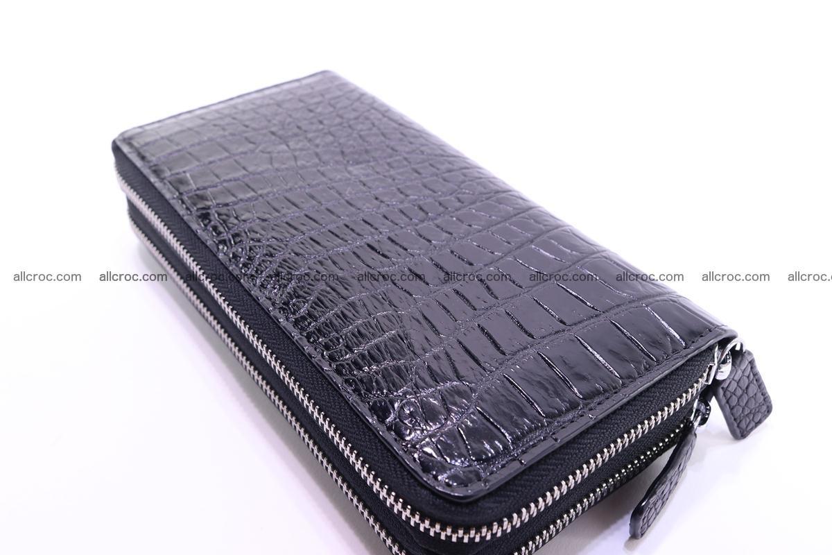 Crocodile wallet with 2 zips 313 Foto 6