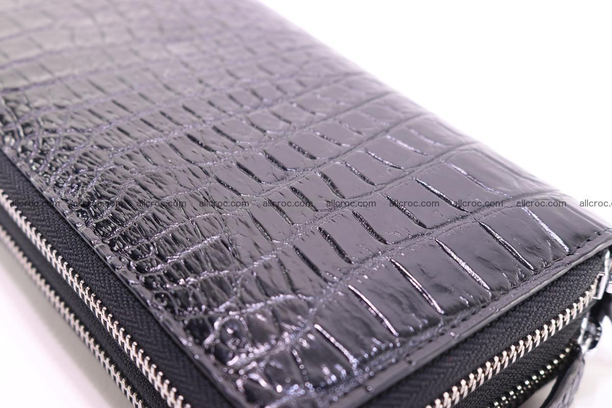 Crocodile wallet with 2 zips 313 Foto 12
