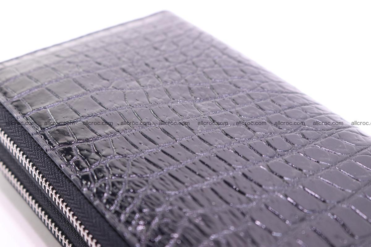 Crocodile wallet with 2 zips 313 Foto 7