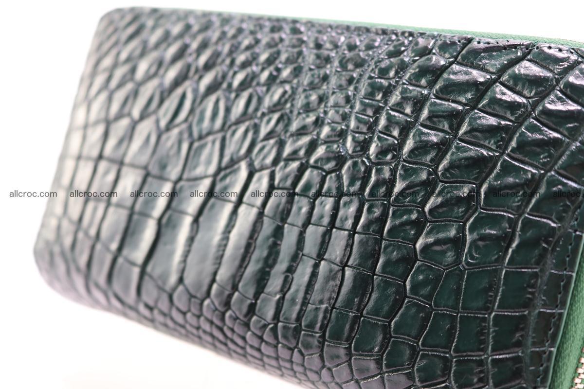 Crocodile wallet with 2 zips 315 Foto 7