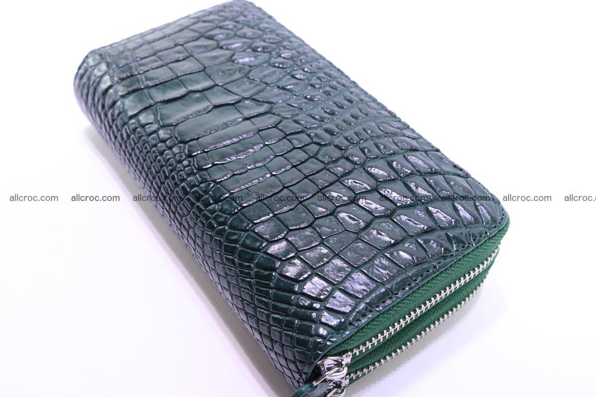 Crocodile wallet with 2 zips 315 Foto 3