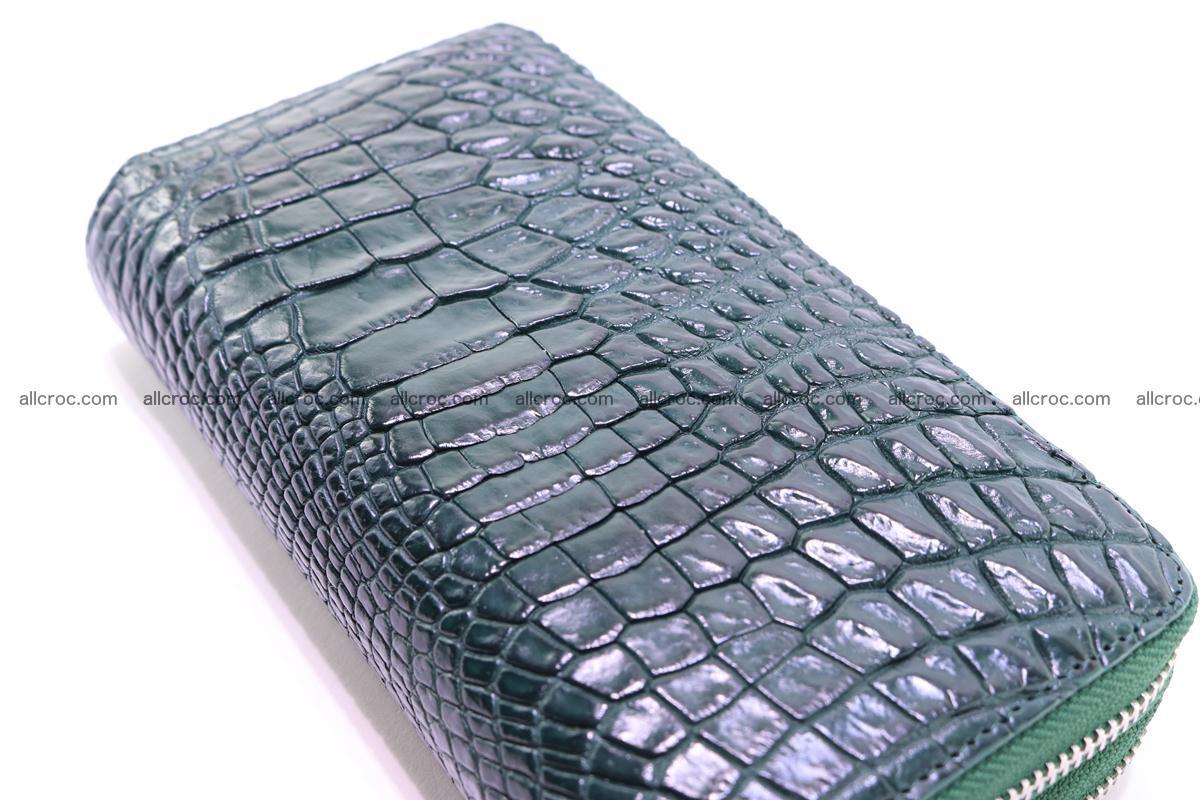 Crocodile wallet with 2 zips 315 Foto 2
